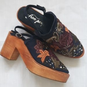 RARE New Free People embroidered Shoes sz 38 /7.5?